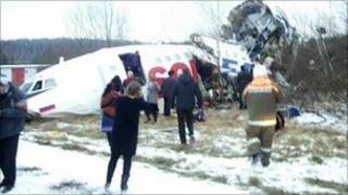 Wreckage of the Dagestan Airlines TU-154 - 4 December 2010
