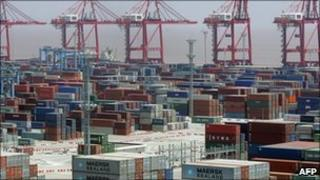 Ningbo port in south-eastern China, one of the facilities on the US list