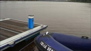 Foyle Search and Rescue pontoon