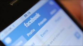 Facebook on smartphone, BBC
