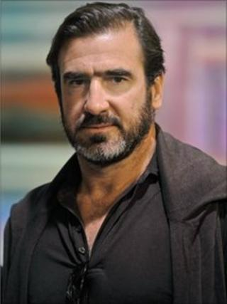 Eric Cantona (image from BBC interview, June 2009)