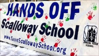 School protest sign