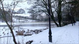 Lakeside in Llandrindrod Well, Powys. Photo: Heather Speake