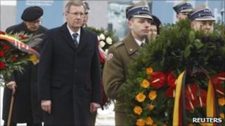 German President Christian Wulff (2nd L)