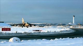 RAF Lossiemouth snow