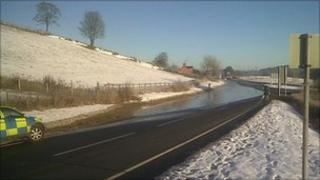 A494 Mold-Ruthin road (Picture by Denbighshire council)