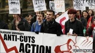 Protesters in Glasgow