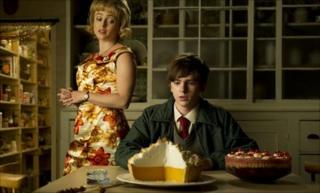 Toast - Helena Bonham Carter as Mrs Potter, and Freddie Highmore as Nigel Slater