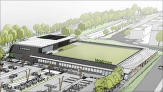 Artist's impression of proposed Waitrose store