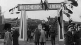 Alderney Homecoming Day 1945