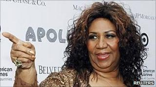 Aretha Franklin, pictured in June 2010