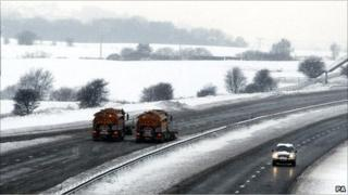 No traffic on the M61 in Lancashire