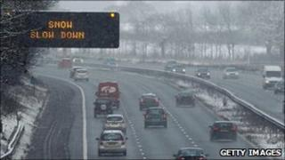Motorists warned to slow down on the M6 near Warrington, Cheshire