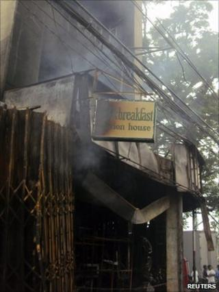The gutted hotel in in Tuguegarao. Photo: 19 December 2010