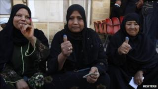 Egyptian women voters