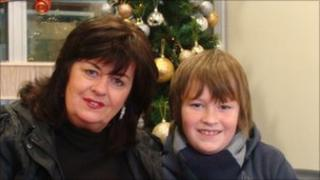 Maggie Taylor and her son Oison Taylor-Feeney