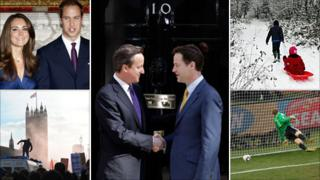 Key images from the most-read news stories of 2010