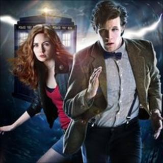 Doctor Who star Matt Smith with Karen Gillan
