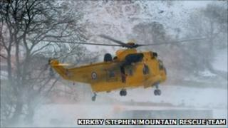 Scene of the incident - courtesy of Kirkby Stephen Mountain Rescue Team