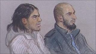 The two defendants from London