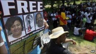 September 2010 protest for Scott sisters in Mississippi