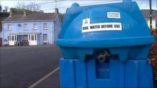 Water bowser in Carmarthenshire