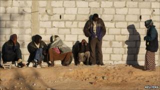 African migrants gather in the Sinai before making the perilous journey to Israel -2010