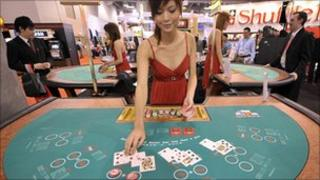 File image of croupier in Macau casino