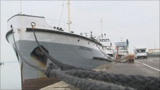 SS Shieldhall at the Port of Southampton