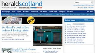 Herald website
