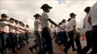 New police recruits in Venezuela