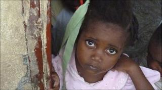 Orphan girl in Port-au-Prince