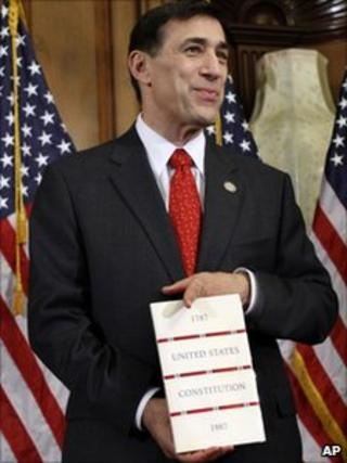 darrell issa holding the us constitution