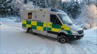 One of the new 4x4 ambulances