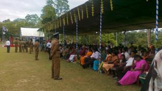 Recruits' parents in Colombo, Sri Lanka