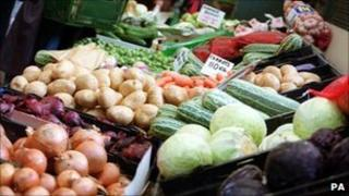 generic picture of vegetable stall