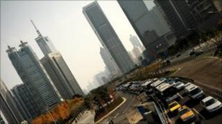 China gridlocked cars