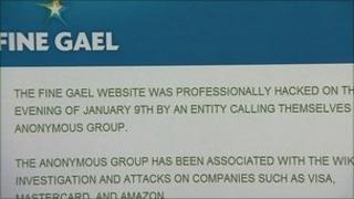 Fine Gael website statement