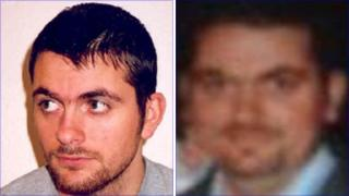 James Doe in 2001 (left) and a recent picture