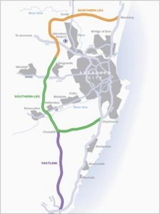 Aberdeen bypass map
