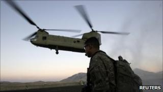 Helicopter carrying Joe Biden lands in Wardak province