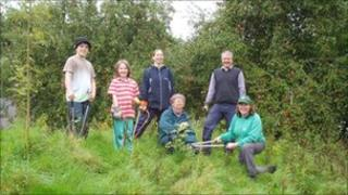 Volunteers helping Cirencester Hospital's 'green gym'