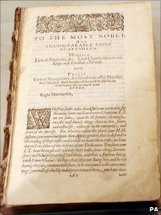 The Shakespeare first folio