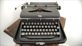 Rattigan typewriter (Photo: Emma Lynch)
