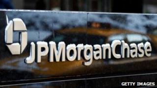 A JP Morgan Chase sign