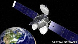 Artist's impress of Galaxy-15 in orbit (Image: Orbital Sciences)