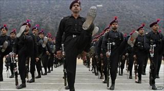 Indian police passing-out parade at near Srinagar on 13 January 2010