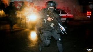 A police officer in Xalapa