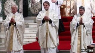 (From left) John Broadhurst, Andrew Burnham and Keith Newton