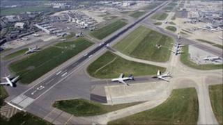 Runways at Heathrow Airport